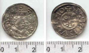 Denar bawarski ces. Henryka II (1002-1024), ok. 1009-1017 r.