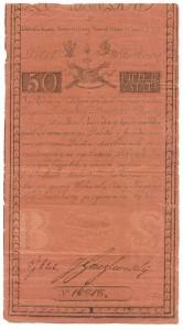 Bilet skarbowy insurekcji kościuszkowskiej