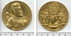 Medal z portretem Mikołaja Zebrzydowskiego, medalier Paweł Baudarth, 1601.