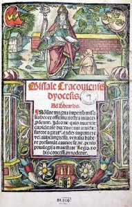 Missale Cracoviense. Kraków, J.Haller, 1515/1516