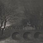 Most Sobieskiego w Łazienkach 29 listopada 1830