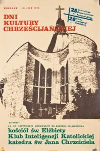 Dni Kultury Chrześcijańskiej, Wrocław 21-29 października 1978 (plakat; autor: Roman Kowalik) Dział Dokumentów Życia Społecznego ZNiO