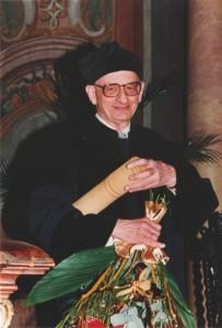 Uroczystość nadania Władysławowi Bartoszewskiemu doktoratu honoris causa Uniwersytetu Wrocławskiego, Wrocław, 11 grudnia 1996 Archiwum UWr