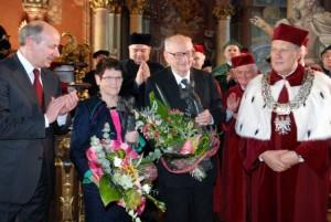 Uroczystość wręczenia Władysławowi Bartoszewskiemu Nagrody Księżnej Jadwigi Śląskiej, Wrocław, 16 listopada 2009 Waldemar Szmatuła