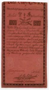 Banknot o nominale 100 zł z 8 czerwca 1794 r.