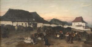 Józef Brandt (1841-1915), Wesoły kwaterunek, 1870-1873. Płótno, olej; 58 x 110,5. Nr inw.: I.o. 127