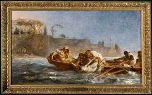 Jan Matejko (1838-1893), Utopiona w Bosforze, 1872 Deska, olej; 26,5 x 45,5 Nr inw.: I.o. 135