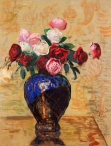 Leon Wyczółkowski (1852-1936), Róże, 1910 Tektura, pastel, akwarela, gwasz, tusz; 83 x 63 Nr inw.: I.o.150