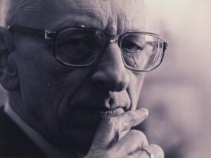 Portret Władysława  Bartoszewskiego z 1986 r.
