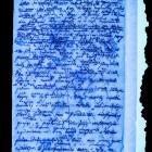 Karta rękopisu w świetle UV