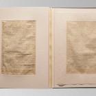 Karty rękopisu przed konserwacją