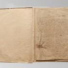 Karta 1. Rękopisu przed konserwacją