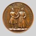 Medal na pamiątkę powstania polskiego, rewers, 1863-1864. Autor Ch.Wiener, Belgia