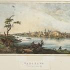 1.Warszawa – panorama od strony Pragi, ok. 1830 Johann Franz Fischbach według wzoru Zygmunta Vogla  Litografia kolorowana akwarelą