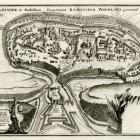 Kamieniec Podolski – plan stereometryczny, 1703 Rytował Gabriel I Bodenehr. Miedzioryt, akwaforta