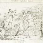 Wjazd Napoleona I Bonaparte do Warszawy w 1807. Rytował Charles Pierre Joseph Normand według obrazu Antoine'a François Calleta. Miedzioryt
