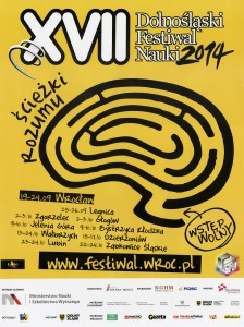 Plakat XVII Dolnośląskiego Festiwalu Nauki