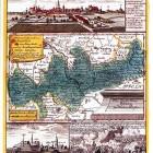 Mapa księstwa brzeskiego z widokami Brzegu, Oławy i bitwy pod Małujowicami, ryt. Johann David Schleuen, Berlin 1741. Dar Tomasza Niewodniczańskiego