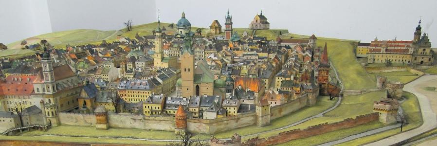 Maquette de Lwow du 18e siècle réalisé par Janusz Witwicki et visible à Wroclaw en Pologne.