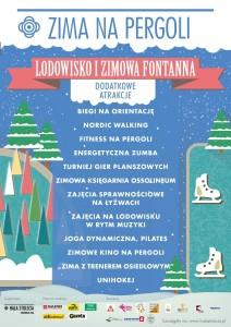 "Plakat akcji ""Zima na Pergoli"""