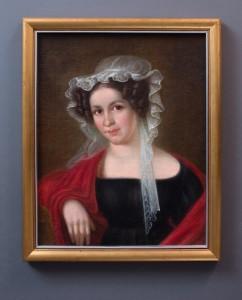 Bonawentura Klembowski, Portret Salomei Słowackiej. Malowany olejno na płótnie, 1 ćw. XIX w. ,wym.: 39,5 x 32,3 cm