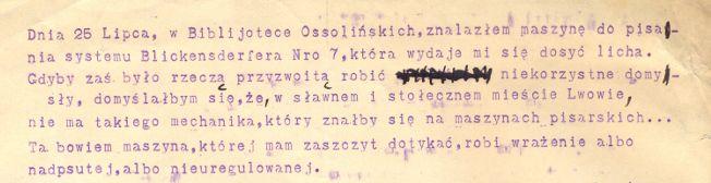 Fragment maszynopisu B.Prusa