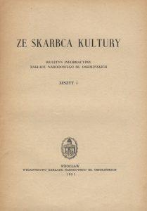 Ze Skarbca Kultury, nr 1, 1951