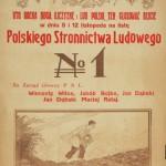 Afisz wyborczy Polskiego Stronnictwa Ludowego z wyborów do Sejmu i Senatu, 5-12 listopada [1922]