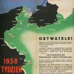 Przygranicze - pancerzem Rzeczypospolitej, Tydzień Polskiego Związku Zachodniego, 1938: plakat