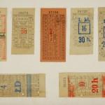 Lwowskie bilety komunikacji miejskiej z okresu międzywojennego
