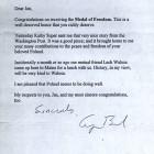List prezydenta USA G. Busha do Jana Nowaka-Jeziorańskiego, 1996