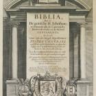 Biblia dat is: De gantsche H.Schrifture... Amsterdam, I.P.Wachter, 1643