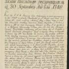 Diariusz sejmu walnego w Warszawie, trwającego od 30 września do 9 listopada 1748.
