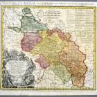 Mapa diecezji wrocławskiej Ignaza Felbigera, wyd. spadkobiercy Homanna, Norymberga 1752