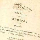 Pierwodruk Dziadów Części III A.Mickiewicza, Paryż 1832