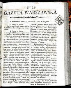Gazeta Warszawska, 1774-1935