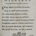 Krasicki Ignacy, Hymn do miłości ojczyzny. Berdyczów, Druk. Karmelitów Bosych, ok.1774