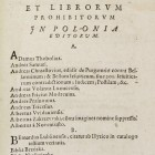 Index librorum prohibitorum in Polonia editorum. Zamość, M.Łęski, 1604