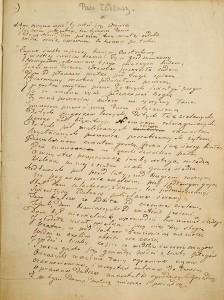 Adam Mickiewicz, Pan Tadeusz. Inwokacja, 1832-1834 r.