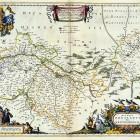 Mapa księstwa wrocławskiego Jonasa Scultetusa, wyd. J. Blaeu Amsterdam 1662