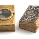 Miniaturowa (2x3cm) edycja Poezji Adama Mickiewicza, Warszawa 1898 r.
