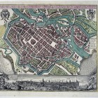 Plan perspektywiczny Wrocławia Matthäusa Seuttera, oparty na planie M. Meriana, Augsburg po 1740 r.