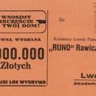 Los Kolektury Loterii Państwowej Runo Rawicz i Ska we Lwowie
