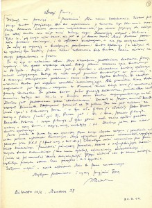 List Wacława Radulskiego, reżysera przebywającego od II wojny na emigracji, do Zdzisława Osińskiego 1964.
