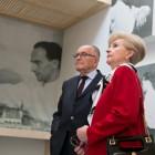 Dyrektor Ossolineum Adolf Juzwenko i Anna, córka Janusza Witwickiego