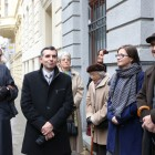 Od lewej: Jakub Forst Battaglia, wicedyrektor ZNiO dr Mariusz Dworsatschek, zastępca ambasadora Monika Szmigiel-Turlej, prof. Bogusław Dybaś