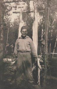 Tadeusz Różewicz po przybyciu do Oddziału w sierpniu 1943 r.