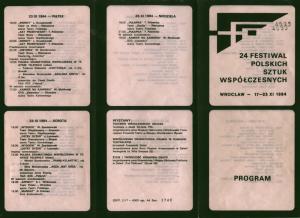 Akt przerywany Tadeusza Różewicza, w interpretacji Teatru Nowego z Warszawy, w repertuarze 24 Festiwalu Polskich Sztuk Współczesnych we Wrocławiu, 1984 r.