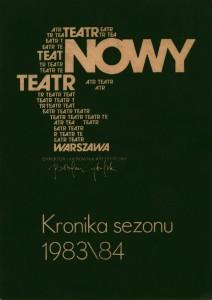 Okładka Kroniki sezonu 1983\84 Teatru Nowego w Warszawie, 1984 r.