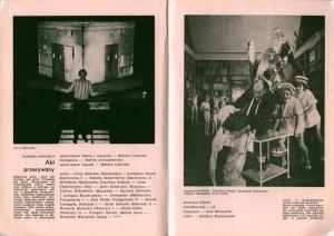 Sztuka Tadeusza Różewicza pt. Akt przerywany, w reżyserii Bohdana Cybulskiego, w Kronice sezonu 1983/84 Teatru Nowego w Warszawie, 1984 r.